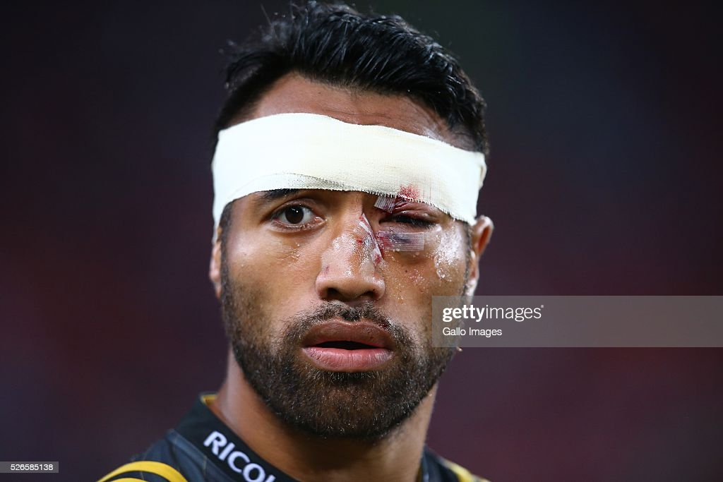 Victor Vito of the Hurricanes during the Super Rugby match between Emirates Lions and Hurricanes at Emirates Airline Park on April 30, 2016 in Johannesburg, South Africa.