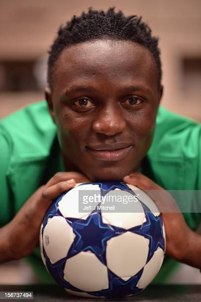 Victor Wanyama 21 years Celtic midfielder and Kenyan International footballer relaxes at his home on November 15 2012 in Glasgow Scotland Having...