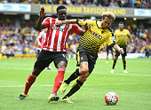 Victor Wanyama of Southampton and Alessandro Diamanti of Watford in action during the Barclays premier League match between Watford and Southampton...