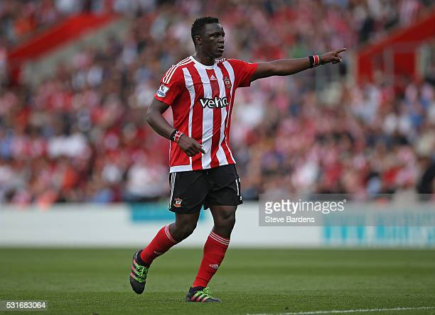 Victor Wanyama of Southampton during the Barclays Premier League match between Southampton and Crystal Palace at St Mary's Stadium on May 15 2016 in...