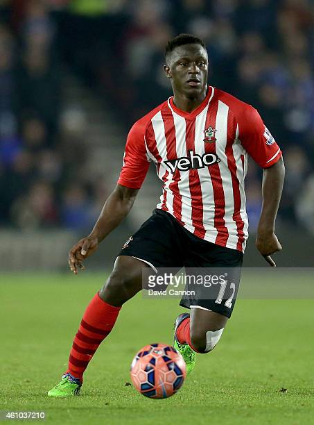 Victor Wanyama of Southampton during the FA Cup Third Round match between Southampton and Ipswich Town at St Mary's Stadium on January 4 2015 in...
