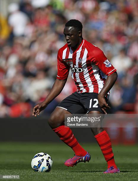 Victor Wanyama of Southampton in action during the Barclays Premier League match between Southampton and Hull City at St Mary's Stadium on April 11...