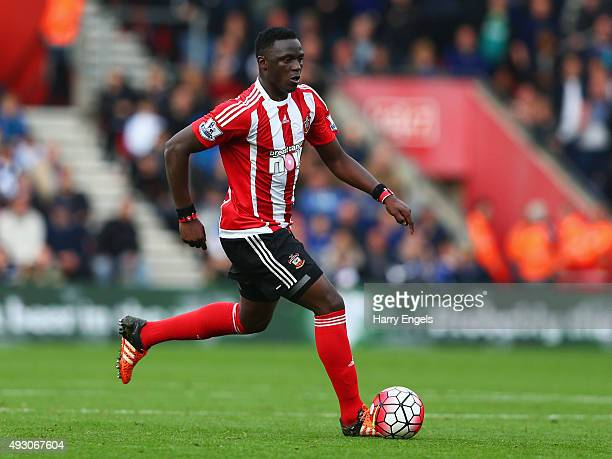 Victor Wanyama of Southampton in action during the Barclays Premier League match between Southampton and Leicester City at St Mary's Stadium on...