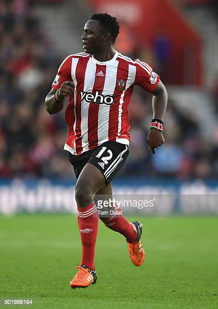 Victor Wanyama of Southampton in action during the Barclays Premier League match between Southampton and Tottenham Hotspur at St Mary's Stadium on...