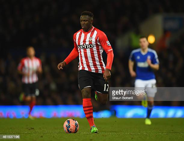 Victor Wanyama of Southampton in action during the FA Cup Third Round Replay match between Ipswich and Southampton at Portman Road on January 14 2015...