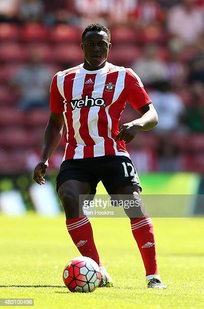 Victor Wanyama of Southampton in action during the pre season friendly match between Southampton and Espanyol at St Mary's Stadium on August 2 2015...