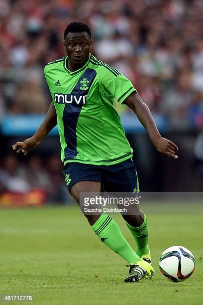 Victor Wanyama of Southampton runs with the ball during the pre season friendly match between Feyenoord Rotterdam and Southampton FC at De Kuip on...