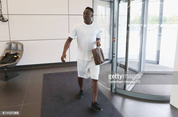 Victor Wanyama of Tottenham arrives prior to the Tottenham Hotspur training session at Tottenham Hotspur Training Centre on July 14 2017 in Enfield...
