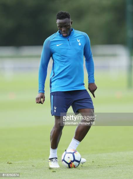 Victor Wanyama of Tottenham during the Tottenham Hotspur training session at Tottenham Hotspur Training Centre on July 12 2017 in Enfield England
