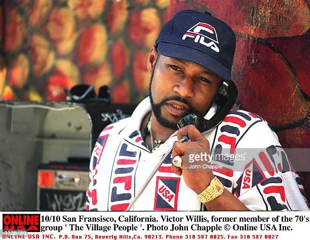 Victor Willis lead singer and cosongwriter for the original line up of American disco group Village People San Francisco California 10th October 1996