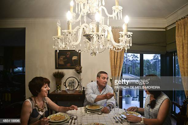 HAGEMANN Victoria 16 years old have dinner with her host family Agostinho Miranda and Ana Miranda at their home in Agueda northern Portugal on July...