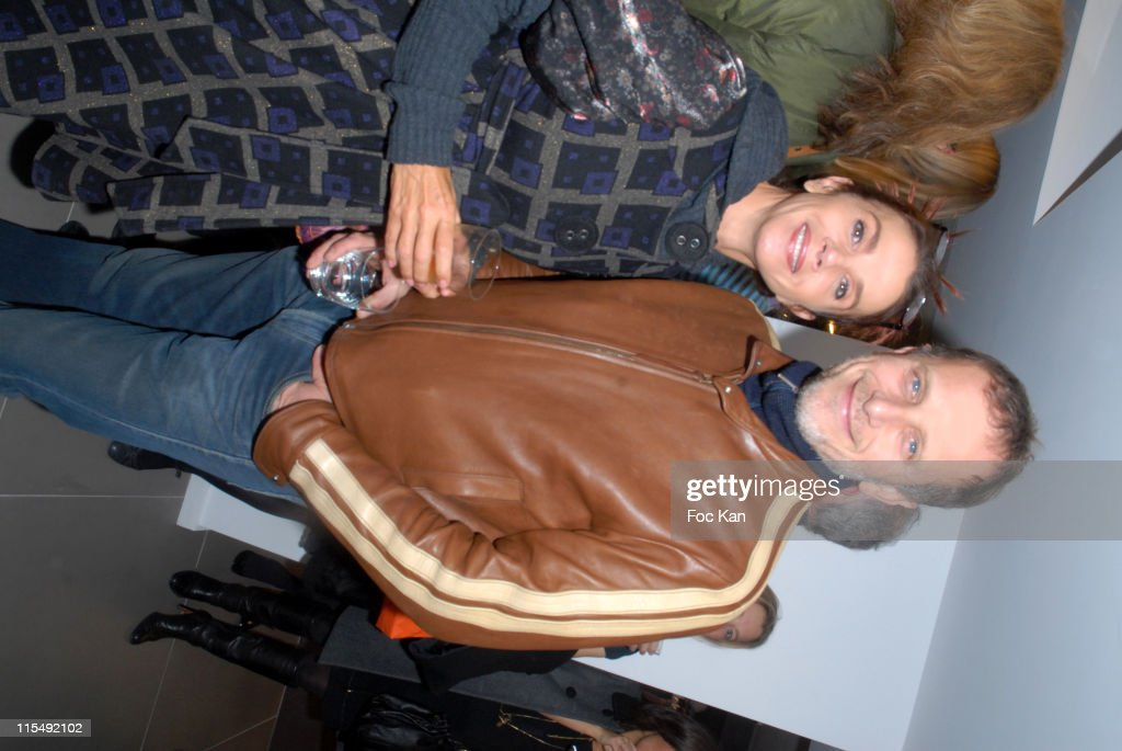 Victoria Abril and Charles Berling attend the Eric Bompard Cashmere Shop Champs Elysees Opening Party on October 23 2007 in Paris France