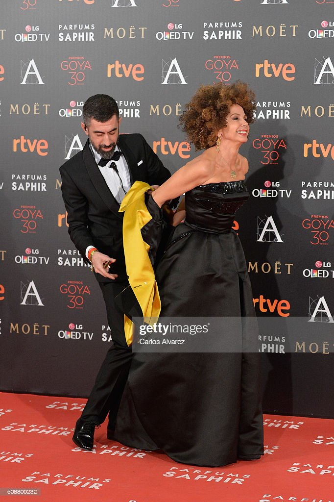 <a gi-track='captionPersonalityLinkClicked' href=/galleries/search?phrase=Victoria+Abril&family=editorial&specificpeople=211257 ng-click='$event.stopPropagation()'>Victoria Abril</a> attends Goya Cinema Awards 2016 at Madrid Marriott Auditorium on February 6, 2016 in Madrid, Spain.