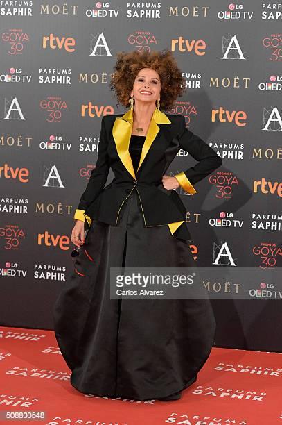 Victoria Abril attends Goya Cinema Awards 2016 at Madrid Marriott Auditorium on February 6 2016 in Madrid Spain