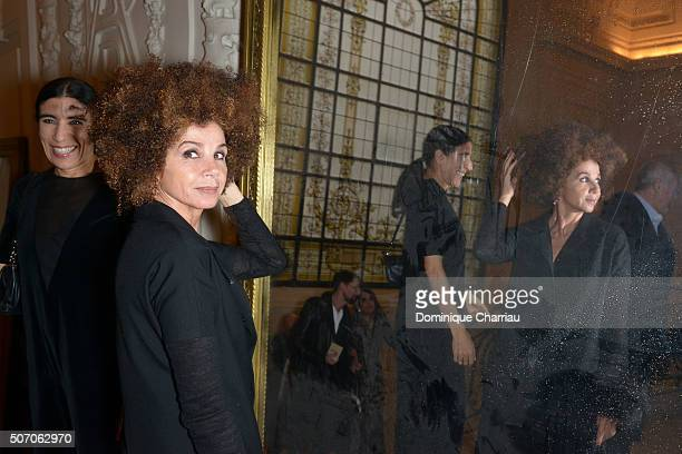 Victoria Abril attends the JeanPaul Gaultier Haute Couture Spring Summer 2016 show as part of Paris Fashion Week on January 27 2016 in Paris France