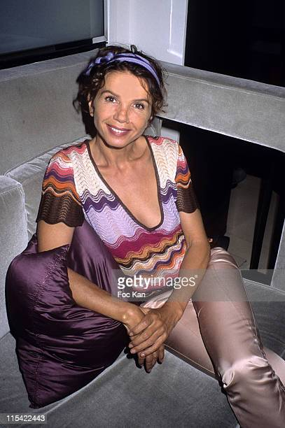 Victoria Abril during One Euro For a Child of Africa Cocktail Party September 12 2006 at Hotel Montalembert in Paris France