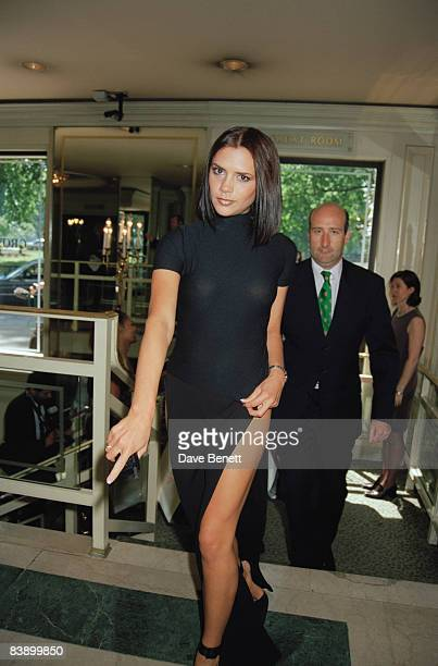 Victoria Adams of the Spice Girls arrives at Grosvenor House in London for the Ivor Novello Awards 29th May 1997