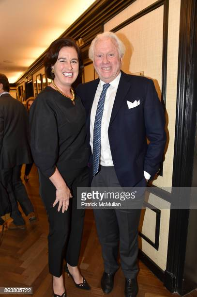 Victoria Amory and Ted Bell attend the launch of Second Bloom Cathy Graham's Art of the Table hosted by Joanna Coles and Clinton Smith at Bergdorf...