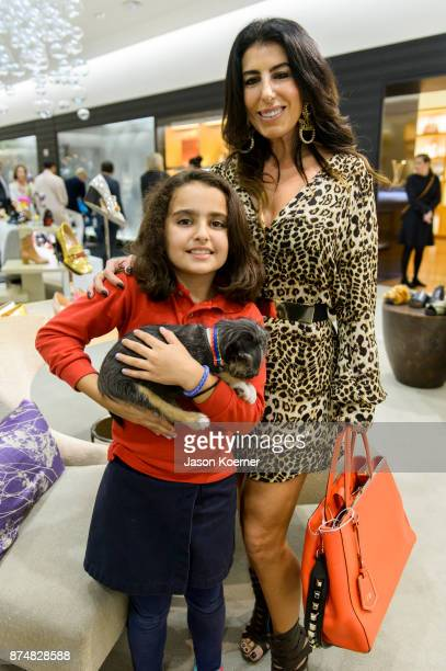 Victoria and Judith Hoffman attend Walk In Style For The Animals at 10022 Shoe at Saks Fifth Avenue Bal Harbour on November 15 2017 in Bal Harbour...
