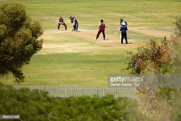 Victoria and Queensland play during the 20415 Imparja Cup on February 13 2015 in Alice Springs Australia