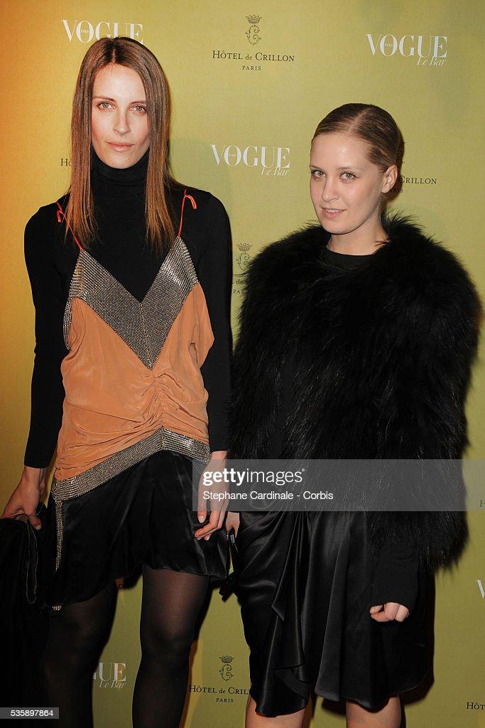 Victoria and Vanessa Traina attend Vogue Party at Hotel De Crillon in Paris.