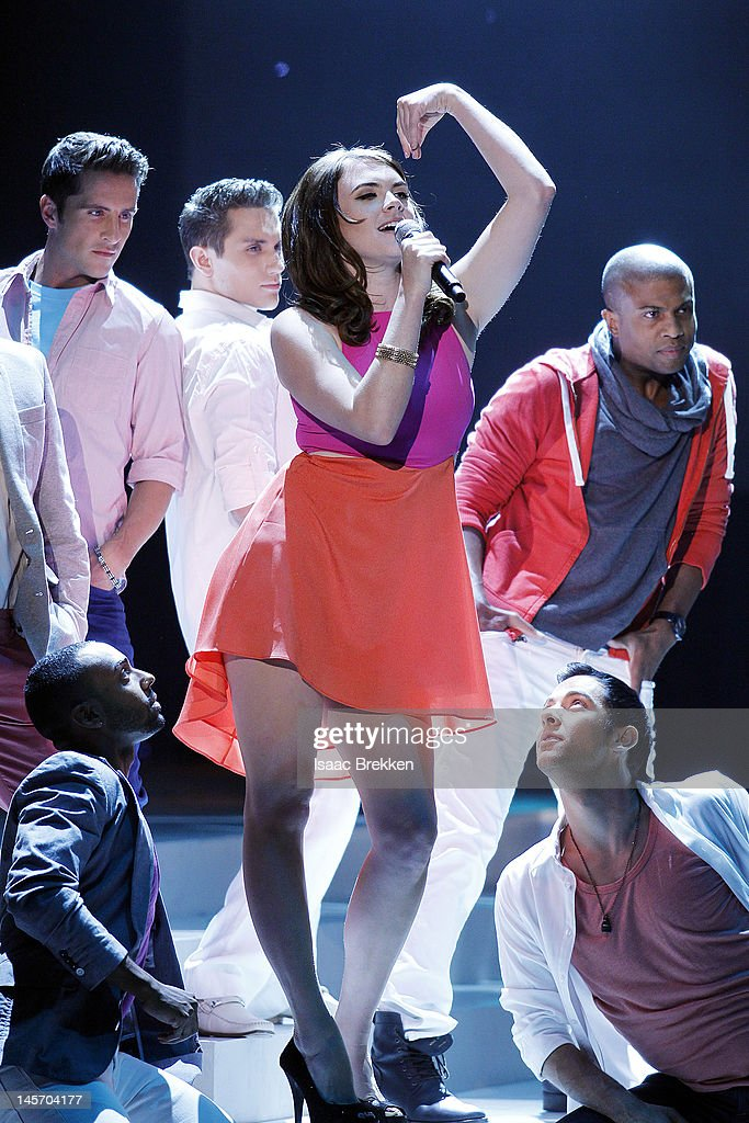 Victoria Asher of Cobra Starship performs during the 2012 Miss USA pageant at the Planet Hollywood Resort & Casino on June 3, 2012 in Las Vegas, Nevada.