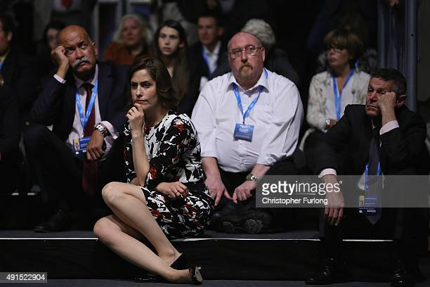Victoria Atkins the MP for Louth and Horncastle listens to a speaker during the Conservative Party Conference on October 6 2015 in Manchester England...