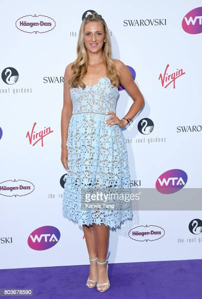 Victoria Azarenka attends the WTA PreWimbledon party at Kensington Roof Gardens on June 29 2017 in London England
