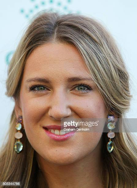 Victoria Azarenka of Belarus arrives at the 2016 Australian Open party at Crown Entertainment Complex on January 17 2016 in Melbourne Australia