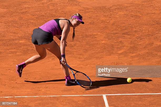 Victoria Azarenka of Belarus during day three of the Mutua Madrid Open tennis tournament at the Caja Magica on May 02 2016 in MadridSpain