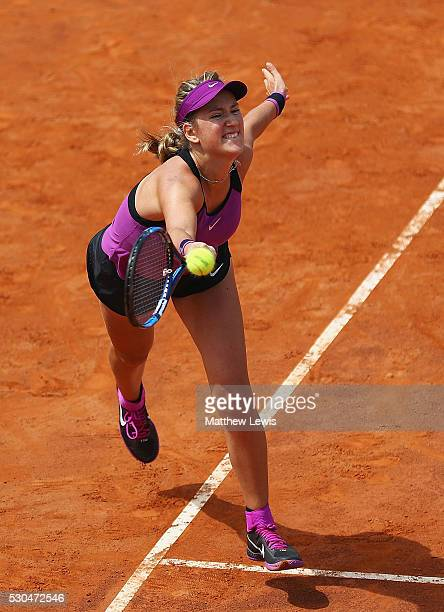 Victoria Azarenka of Belarus in action against IrinaCamelia Begu 0f Romania during day four of the The Internazionali BNL d'Italia 2016 on May 11...