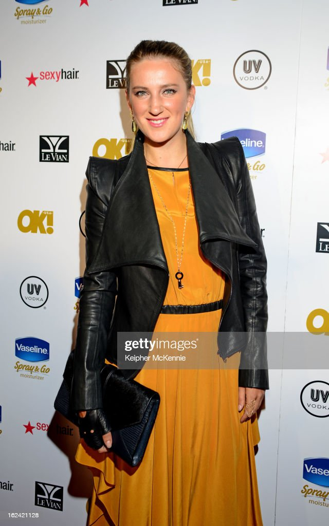 Victoria Azarenka steps on the red carpet at OK! Magazine Pre-Oscar Party at The Emerson Theatre on February 22, 2013 in Hollywood, California.