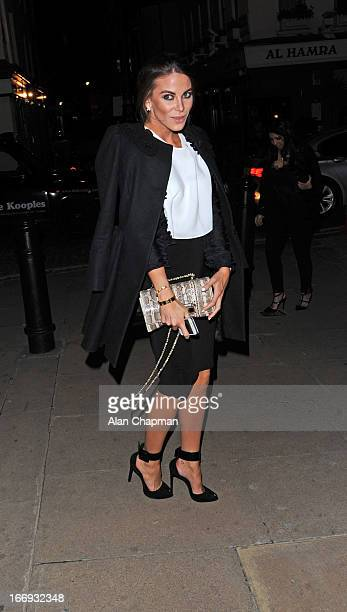 Victoria BakerHarber sighting arriving at Loulou's Mayfair on April 18 2013 in London England