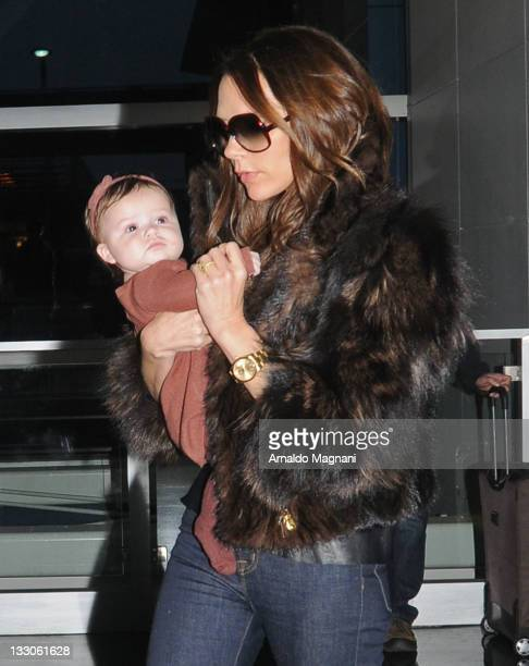Victoria Beckham and daughter Harper Beckham sighting on November 16 2011 in New York City
