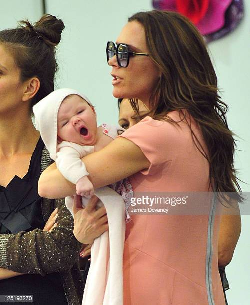 Victoria Beckham and daughter Harper Seven Beckham visit Marc Jacobs in SoHo on September 15 2011 in New York City