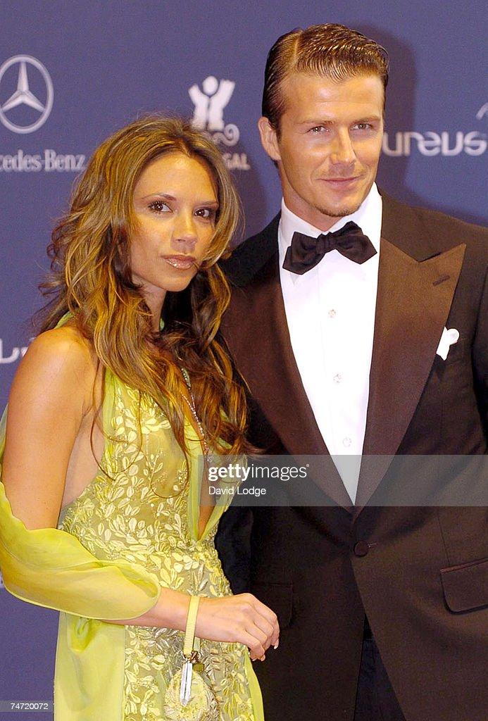 Victoria Beckham and David Beckham at the 2005 Laureus Sports Awards - Arrivals at Casino Estoril in Estoril.