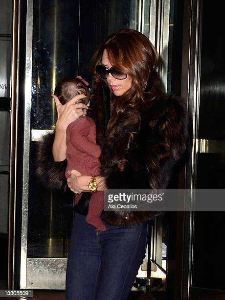 Victoria Beckham and Harper Beckham are seen on November 16 2011 in New York City