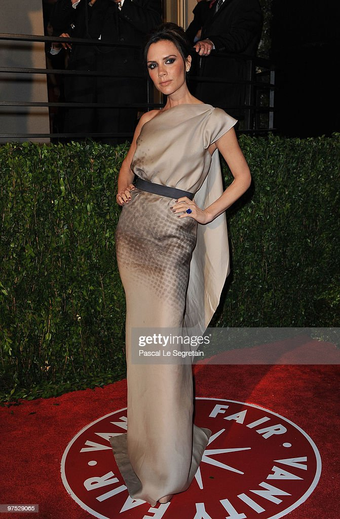 Victoria Beckham arrives at the 2010 Vanity Fair Oscar Party hosted by Graydon Carter held at Sunset Tower on March 7 2010 in West Hollywood...