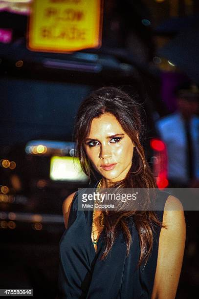 Victoria Beckham arrives at the 2015 CFDA Fashion Awards at Alice Tully Hall at Lincoln Center on June 1 2015 in New York City