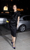 Victoria Beckham arrives at Woolmark Prize Final at ME Hotel during London Fashion Week on February 16 2013 in London England