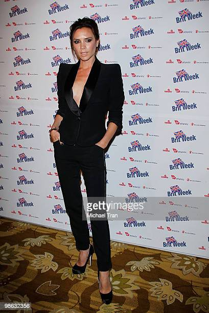 Victoria Beckham arrives to the BritWeek 2010 charity event 'Save The Children And Virgin Unite' held at the Beverly Wilshire hotel on April 22 2010...