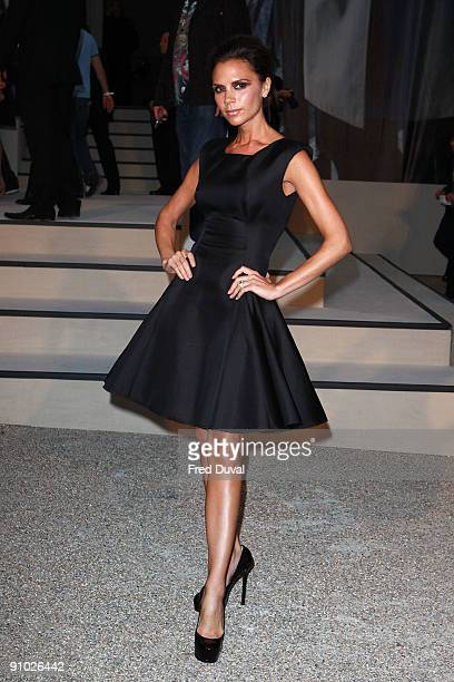 Victoria Beckham arriving at Burberry's Closing Party of London Fashion Week Spring Summer 2010 on September 22 2009 in London United Kingdom