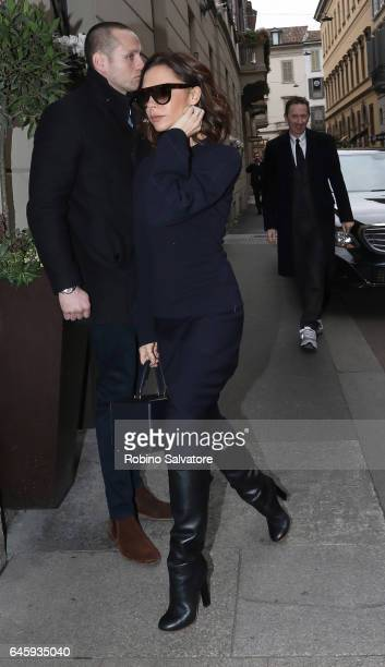 Victoria Beckham attend a public mass honouring Franca Sozzani at Duomo on February 27 2017 in Milan Italy