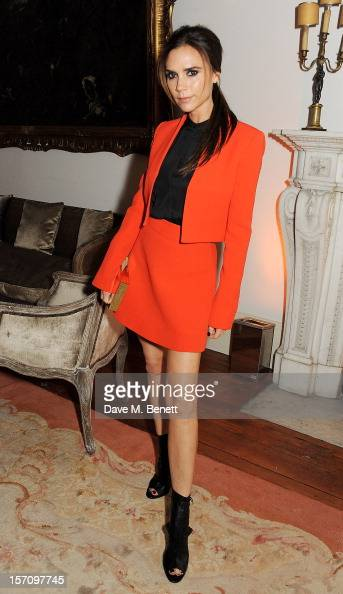 Victoria Beckham attends a dinner celebrating the launch of 'Valentino Master Of Couture' the new exhibition showing at Somerset House from November...
