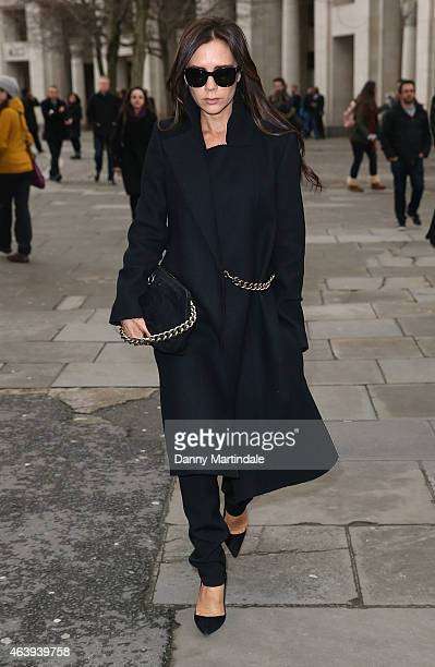 Victoria Beckham attends a memorial service for Professor Louise Wilson during London Fashion Week Fall/Winter 2015/16 at St Paul's Cathedral on...