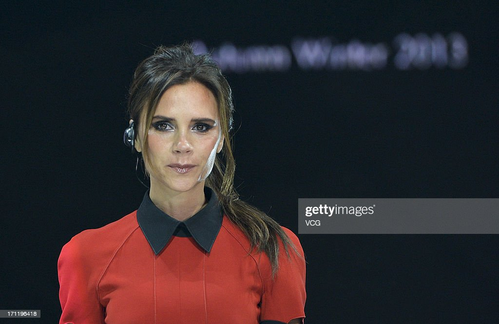 Victoria Beckham attends China Central Television show on June 23, 2013 in Beijing, China.
