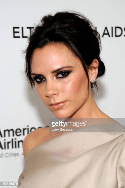 Victoria Beckham attends the 18th Annual Elton John AIDS Foundation Academy Award Party at Pacific Design Center on March 7 2010 in West Hollywood...