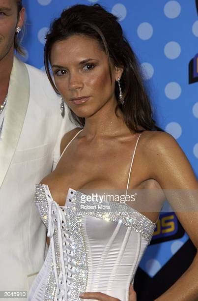 Victoria Beckham attends The 2003 MTV Movie Awards held at the Shrine Auditorium on May 31 2003 in Los Angeles California