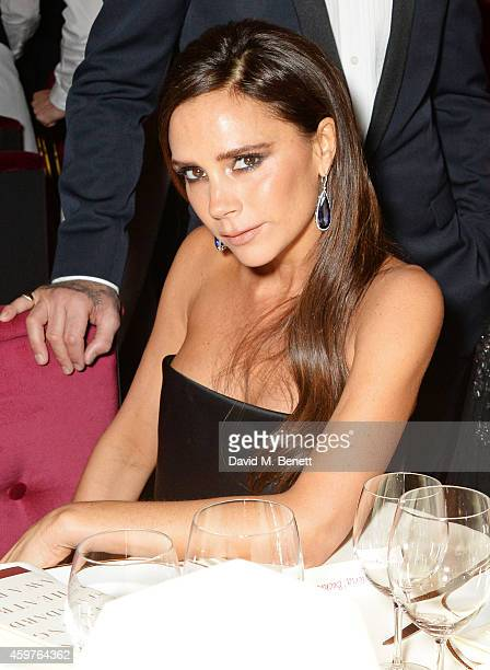 Victoria Beckham attends the 60th London Evening Standard Theatre Awards at the London Palladium on November 30 2014 in London England