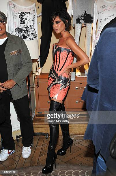 Victoria Beckham attends the Bergdorf Goodman celebration of Fashion's Night Out at Bergdorf Goodman on September 10 2009 in New York City